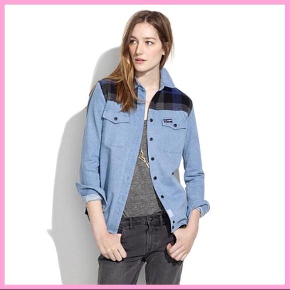Madewell Jackets & Blazers - PENFIELD X MADEWELL   Denim & Flannel Jacket